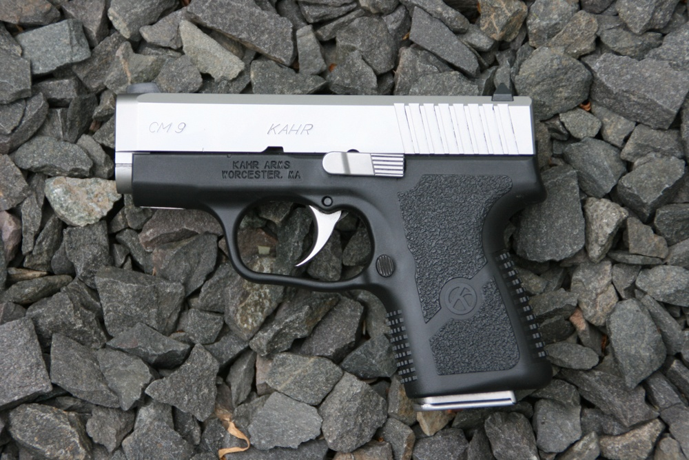 The Kahr CM9 — ultra compact and easily concealable.