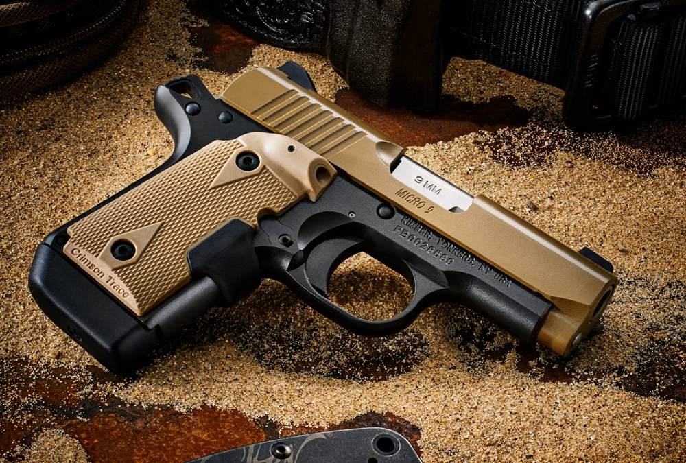 The Kimber Micro 9 Desert Tan.