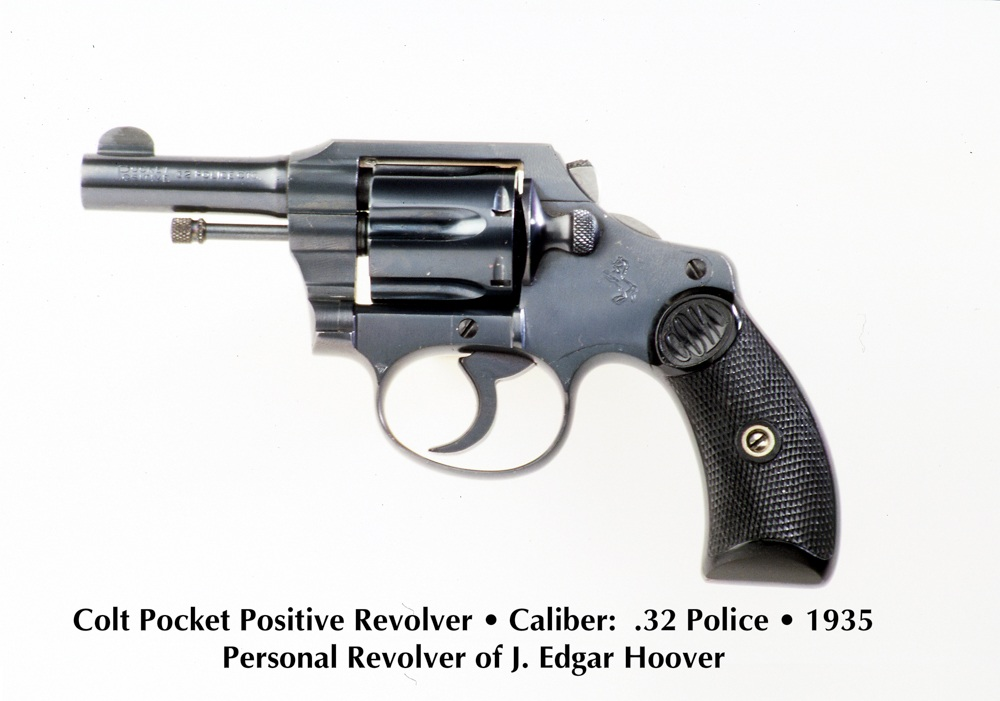 This Colt Pocket Positive was Director Hoover's personal handgun. Note bobbed hammer spur.