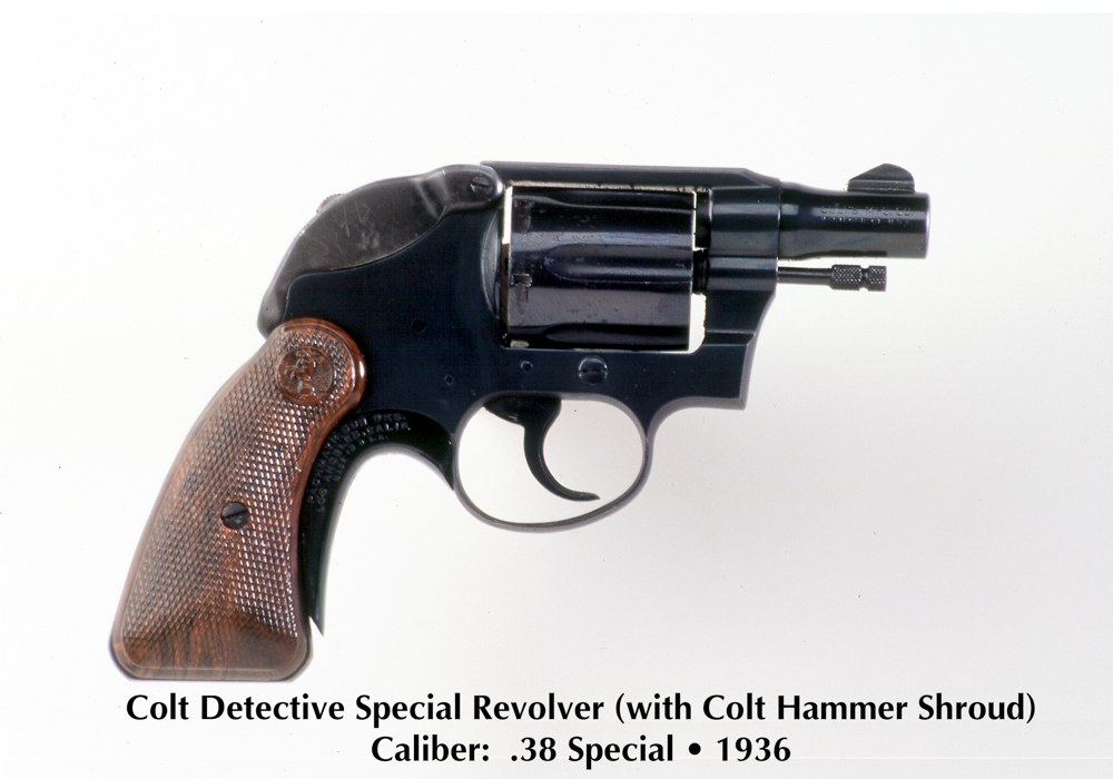 Colt Detective Specials were issued later, usually equipped with a hammer shroud. All photos FBI unless noted.