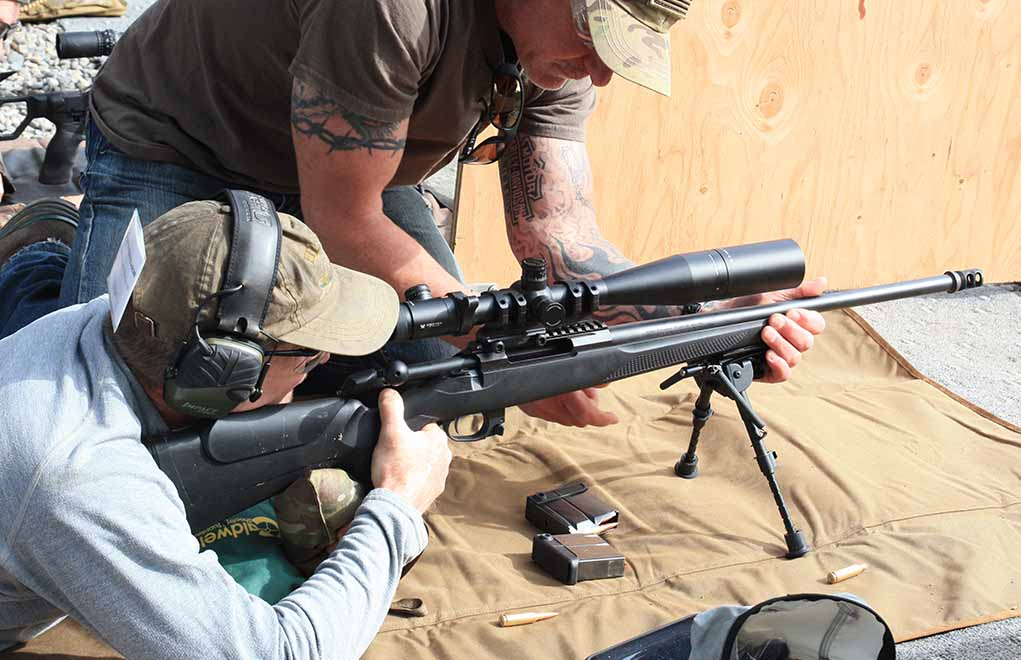 Part of setting up the rifle to the shooter is balancing the proper height on the bipod legs, so recoil will come back in a straight line.