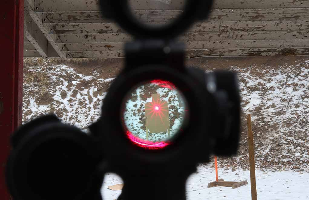 The AR pistol and red dot optics were meant for each other.