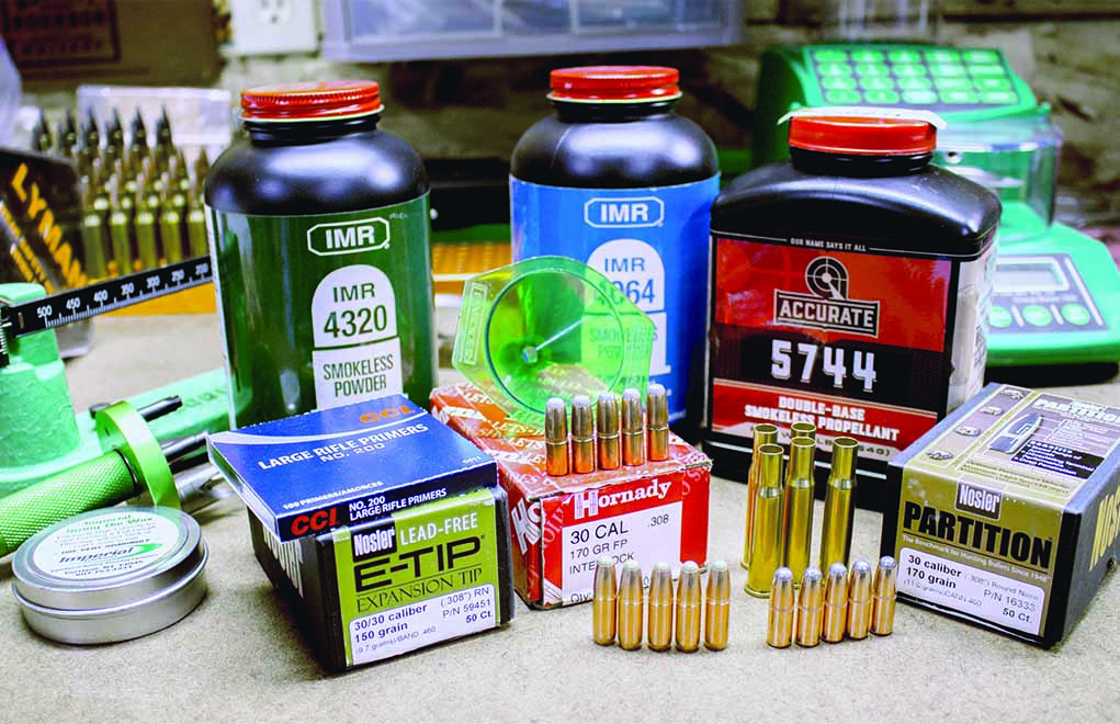 The .30-30 Winchester is not a finicky cartridge, and by handloading your ammo, you can use some bullets unavailable in factory loadings.