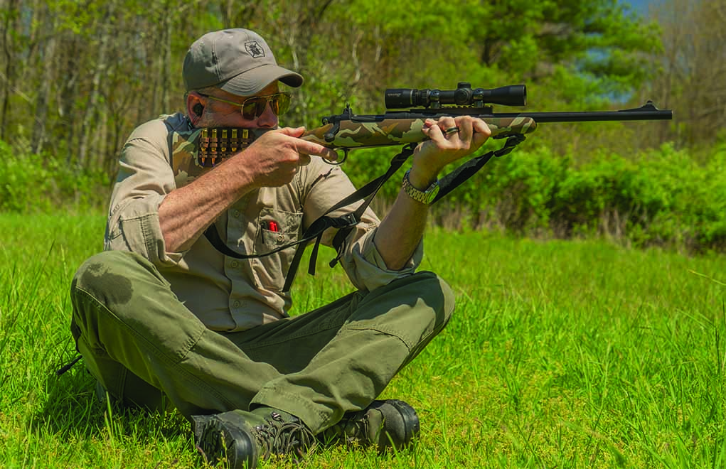 The seated shooting position can be greatly enhanced with a quality and properly adjusted shooting sling. Learn to use one well so it doesn't take you too long to sling-up.