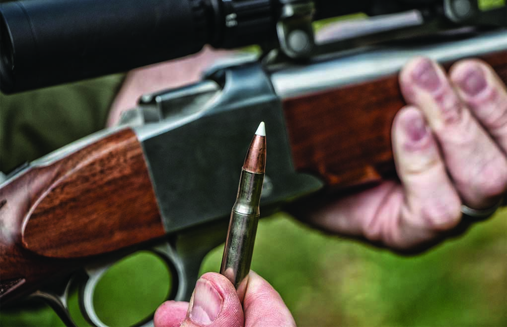 For those who handload, Nosler's 125-grain AccuBond bullet is an ideal companion to the Ruger No. 1 in .30-30. At distance, it will shoot flat and hit hard while delivering excellent terminal performance.