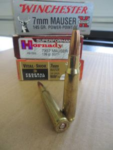 All major ammunition manufacturers produce the 7mm Mauser, though foreign-made ammo typically has more bullet weight and type selections.