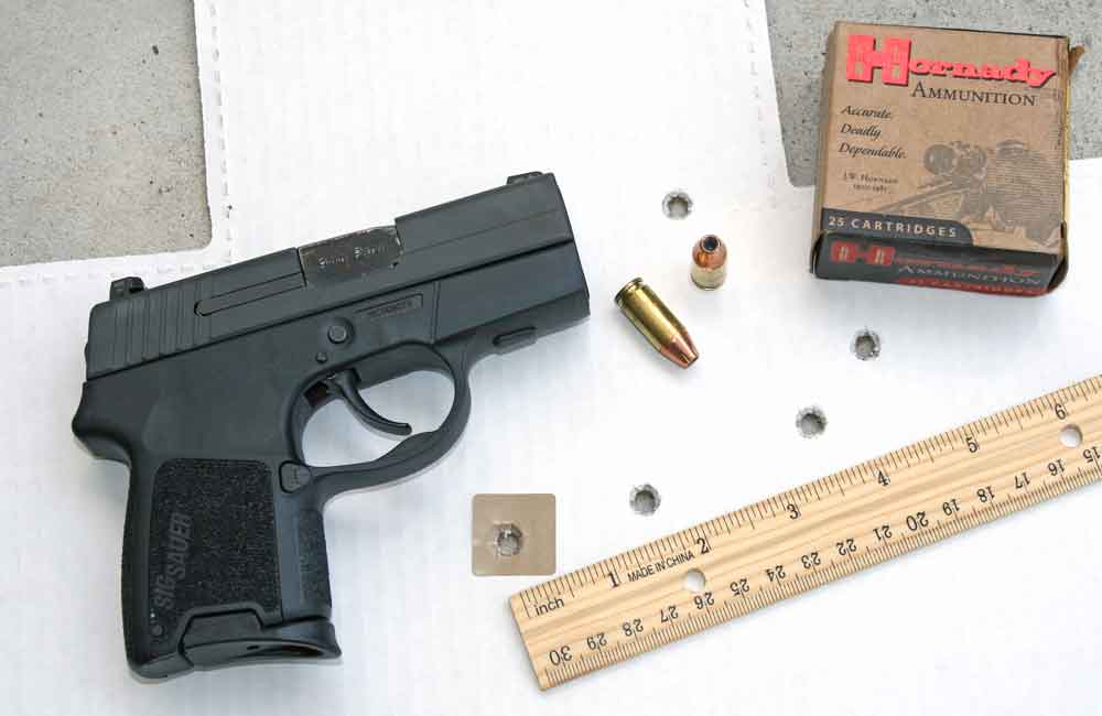 SIG P290RS Accuracy Test with Hornady Ammunition