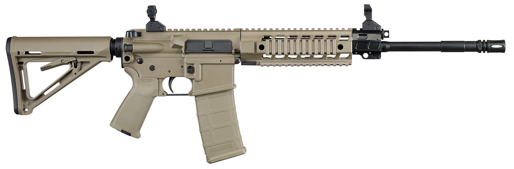 The Sig 516 Patrol Rifle comes in a standard black model, but is also available in Flat Dark Earth (FDE) and a black/Olive Drab (OD) Green version. Beyond the colors, each model boasts many of the same features.