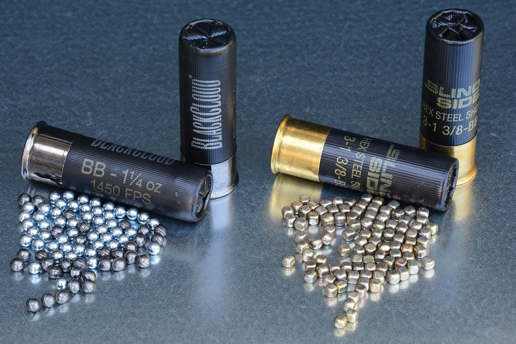 Manufacturers are changing the way shot is shaped to improve performance. Federal's Flitestopper pellets feature a cutting edge to increase tissue damage, and the pellets in Winchester's Blind Side are hex shaped in order to stack more into the shell.