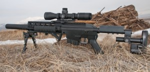 Long suppressors are fantastic for precision rifles—the larger the caliber, the longer the suppressor. Author Photo