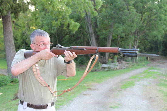 M1 Garand bayonet, not a bad idea for a survival gun.