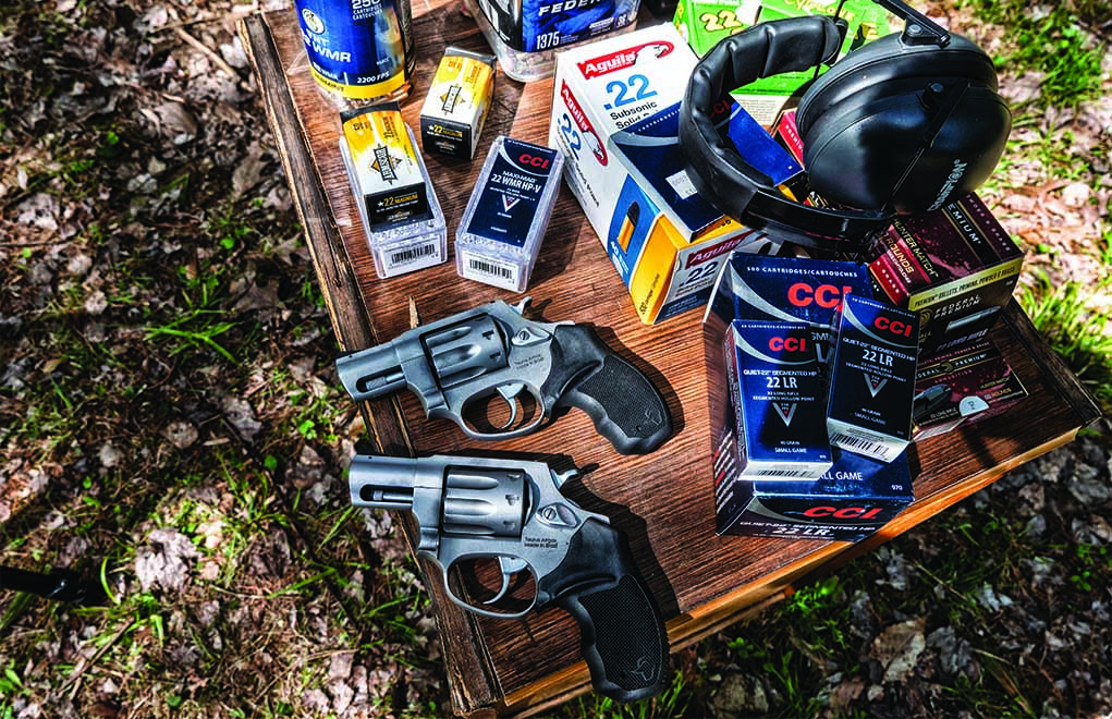 Available in .22 LR and .22 WMR, the 942s are identical—without the cylinder and barrel. Both make excellent plinkers, trainers, backup carry guns or pack pistols.