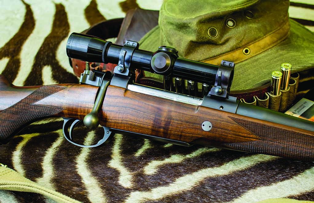 A good low-power riflescope, like the 2.5x Leupold on the author's .404 Jeffery, offers the ability to make longer shots while keeping the reticle and target on the same focal plane … but it gives tunnel vision when things get close.