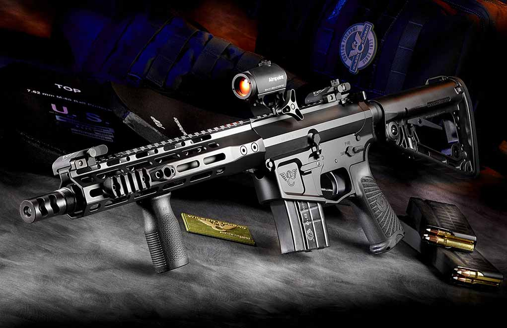 The 6.8 SPC II isn't afraid of going small. An example, Wilson Combat's SBR Tactical.