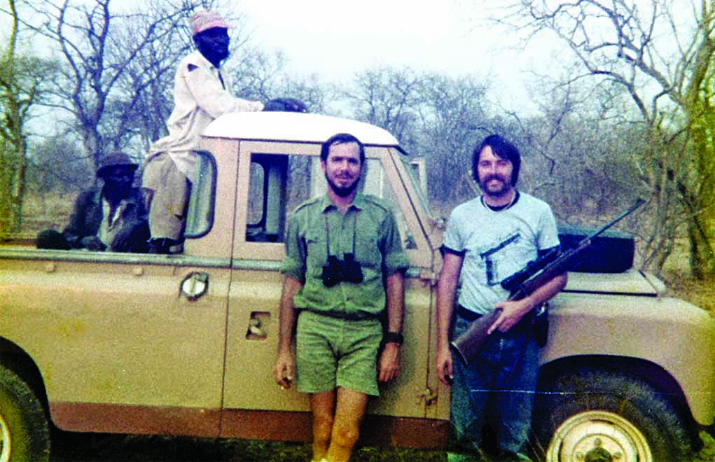 Bill Wilson is much more than just a businessman who sells world-class firearms; he's also a world-class competitive shooter and hunter. This photo was taken on his first African safari.