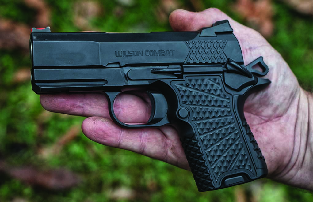 Just slightly larger than your hand, the EDC X9S is similarly sized to the Glock 26 and S&W Shield.