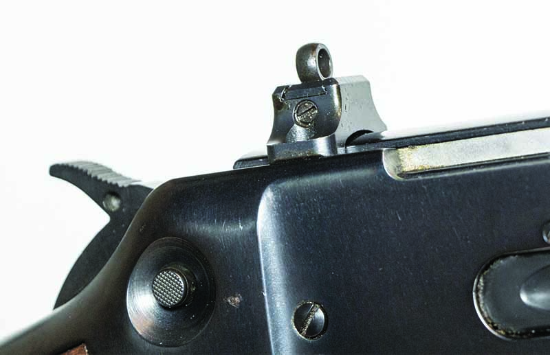 Because the Winchester 94AE rifle ejects to the side and because it has the ability for a top-mount scope, it was easy to mount the XS aperture rear sight on the rifle.