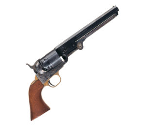 Appearing in The Outlaw Jose Wales made this replica Colt 1851 revolver's price skyrocket into five figures. Photo RIAC
