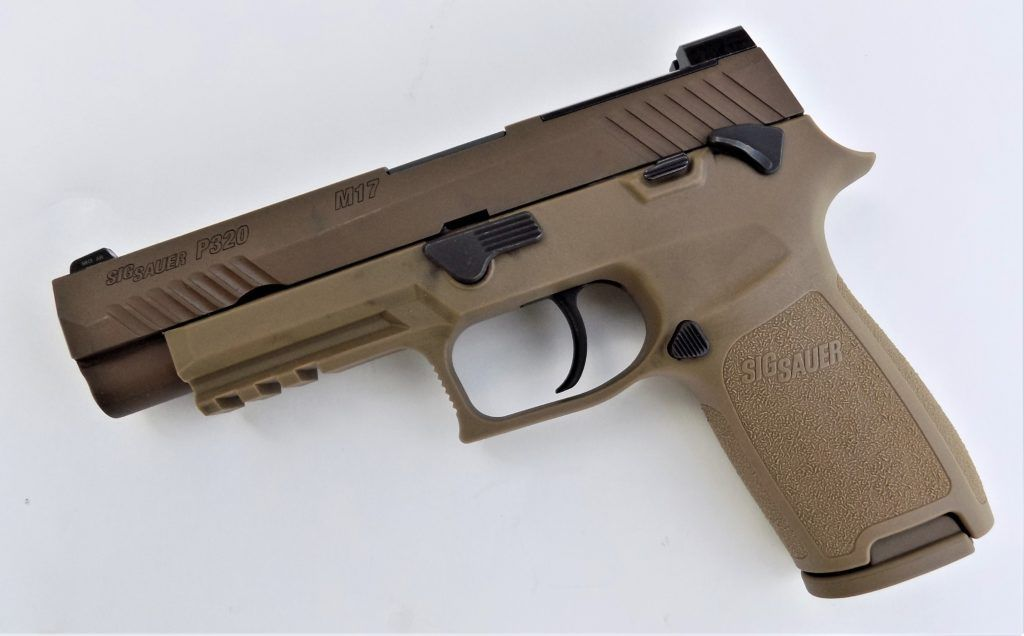 The M17 is a clean and uncluttered design. It features ambidextrous safety lever, an ambidextrous slide lock and a light rail.