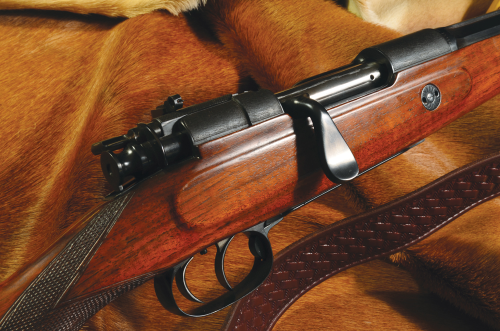 Haenel-Mannlicher, circa 1909, fitted with a Lyman Model 36 receiver sight and Lawrence sling. The sight appears to have been fitted at the factory, but it is impossible to say for certain.