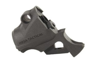 At the heart of Mesa Tactical's LEO Telescoping Stock system is its adaptor, which makes any standard AR adjustable buttstock and grips compatible with the shotgun.