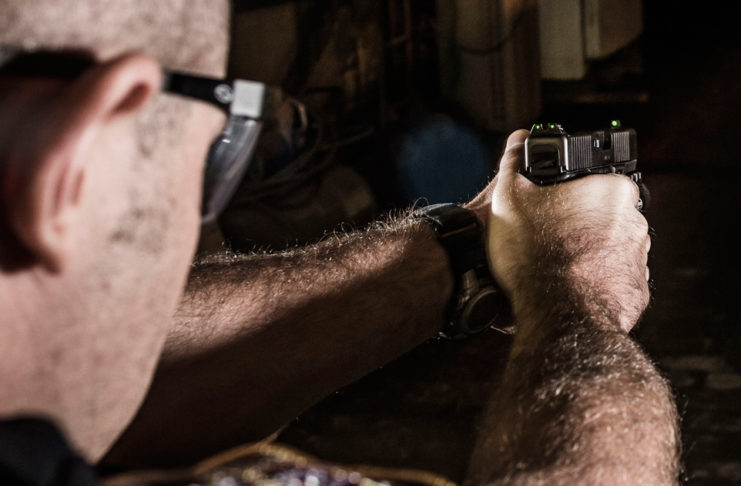 Concealed Carry Upgrades -Tritium sights give shooters the advantage of maintaining their sight picture in low light situations. Photo: Trijicon