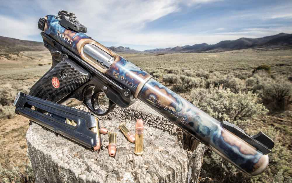The Turnbull Ruger Mark IV striking a pose.