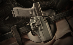 Many of today's retention holsters are made of synthetic material, allowing for a lightweight, yet secure carry option.